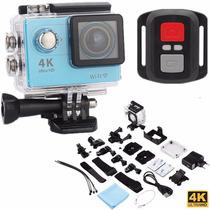 Câmera 4k Wifi Action Ultra Hd 1080p Controle 2.4g Tela Lcd