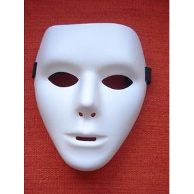 Mascara Sem Face Teatro 2 Branca Carnaval Haloween Festa
