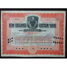 2354 - Apólice New England Cotton Yarn 1912