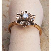 Anillo De Oro 14 Kilates Flor De Amor