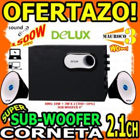 Wow Corneta Con Sub Woofer 2.1ch Delux 1500w Pmpo Pc Laptop
