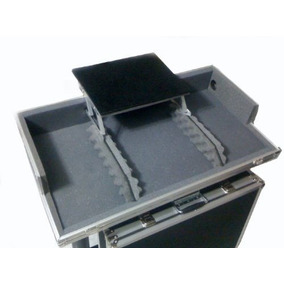 Hard Case Cdj 800/900/1000 + Mixer C/ Plataforma De Notebook