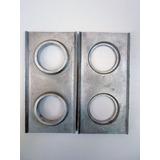1 Par De Formas 12,5 / 25 Cm Tijolo Ecologico,solo Cimento