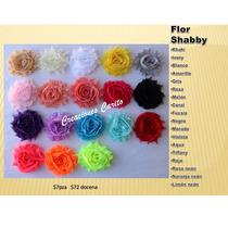 Flores De Chiffon Shabby Cabello, Banditas, Diademas, Broche