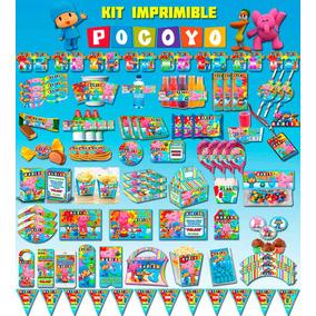 Kit Imprimible Editable Pocoyo + Candy Bar (mesa De Dulces)