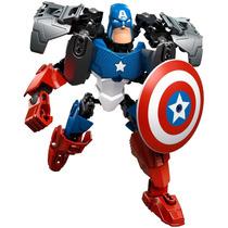 Lego Avengers Capitão América 42pçs-20cm-s/ Caixa