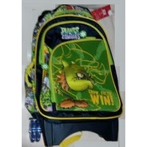 Backpack Mochila Plantas Contra Zombies 3d1 Carrito