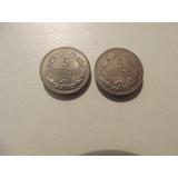 Pareja De Monedas De 5 Céntimos Puyas De 1964 Y 1965