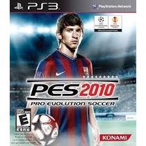 Jogo Pes 2010 Pro Evolution Soccer - Ps3 - Lacrado -