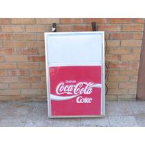 Anuncio Luminoso Antiguo De Coca Cola En Acrílico Ca. 1980