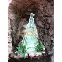 Gruta Água Cascata Nossa Senhora Aparecida Resina Luzes Led