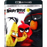4k Ultra Hd + Blu-ray The Angry Birds Movie / 3d + 2d + 4k