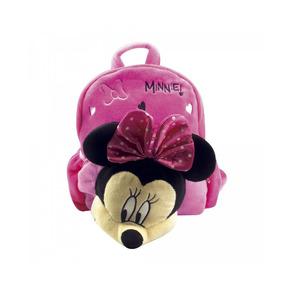 Mochila Pelúcia Rosto Minnie Mouse