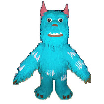 Bellisima Piñata Super Grande Mide 1,20m Sulley Monsters Inc