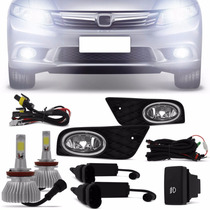 Kit Farol De Milha Civic 2012 A 2014 + Super Led H11 6000k