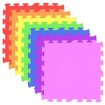 16 Tapetes Em Eva Decorativo Tatame Infantil Colorido 50x50