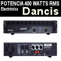 Amplificador De Potencia 800w 400 Rms Soporta 4 Bafles