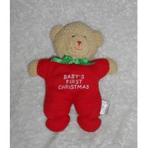 Peluche Con Sonaja Osito Primera Navidad Del Bebé, 21cm