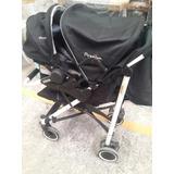 Cochecito Para Bebe Premium Baby C/ Huevito Y Base Para Auto