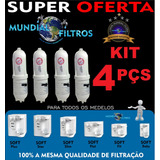 Refil Filtro Vela Purificador Agua Soft Everest 2x1 Kit 4pçs