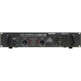 Frete Grátis Ciclotron W Power 2200 Ab Amplificador Potência