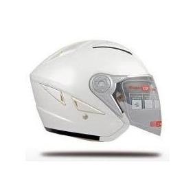 Casco Abierto V Can V 529 Doble Visor Blanco Freeway Motos!!