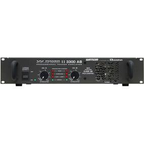 Frete Grátis Ciclotron W Power 3300 Ab Potência Amplificador
