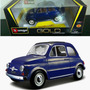 Fiat 500 F Año 1965 Burago,18 Cm. 1:18 Nuevo C/caja, Metal.-