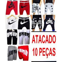 Kit 10 Pças Calça Moletom Nike Atacado Shorts Moletom Nike