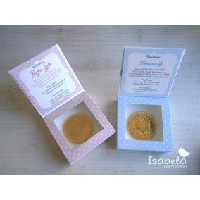 Bolos Para Bautizo Con Moneda Chocolate Originales Recuerdo