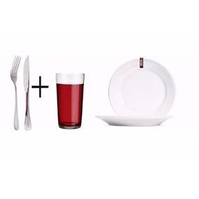 Kit Buffet P/30 Pessoa + Copo + Talheres + Prato