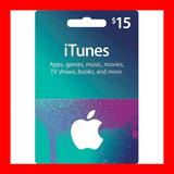 Itunes Apple Card $15 -ipod Iphone Tarjetaprepago Cajavecina
