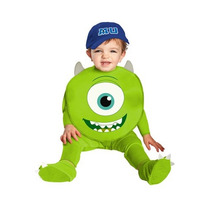 Disfraz Niño Bebe Mike Monster Inc University Halloween