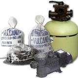 Filtro Vc 30+bomba 1/2 Hp+carga Filtrante Vulcano Original