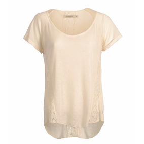 Remera Blusa Mujer Brooksfield Moda Algodon Encaje Bm01076z