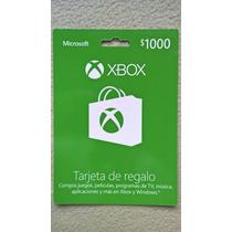 Microsoft Xbox Live $1000 Tarjeta De Prepago