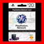 Play Station Network Card $20 Psn Store U. S. A (oferta )