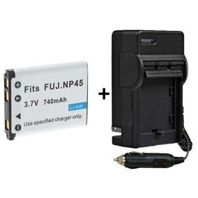 Bateria Np-45 + Carregador P/ Fujifilm Z70 Jz250 T200 Jv100