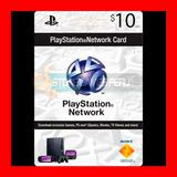 Play Station Network Card $10 Psn Store U. S. A (oferta )
