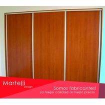 Frente De Placard Melamina 3,00x2,60m 3ptas Martelli Design