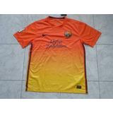 Camisetas Barcelona 2012/2013 Naranja Con Numero Y Nombre