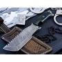 Cuchillo Tracker Acero Damasco Full Tang + Funda Nuevo !!