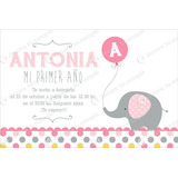 Kit Imprimible Elefante Bautismo Invitación Baby Shower 1