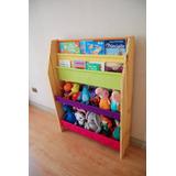 Mueble Infantil - Organizador De Juguetes Y Librero
