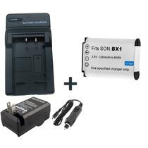 Kit Bateria Np-bx1 + Carregador P/ Sony Dsc-h400 Dsc-h300