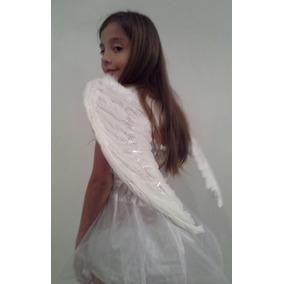 Alas De Angel De Plumas Blanca 60 X 45 Cm