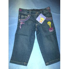 Pantalon Jean Para Niña Talla 1 De Looney Tunes- Piolin
