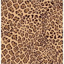 Papel De Parede 3d Adesivo Estampa Onça Laranja