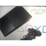 Playstation 2 Slim Chipeado+1control+memoricard 8g+6juegos