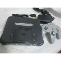 Nintendo 64 Completo C/ Controle Original E Jogo Brinde
